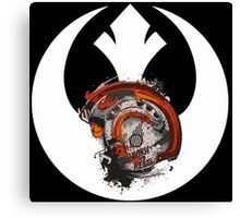 Born To Rebel - Star Wars Rebel Alliance Logo Canvas Print