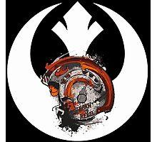 Born To Rebel - Star Wars Rebel Alliance Logo Photographic Print