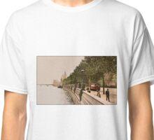 London The Embankment River Thames vintage belle epoque Classic T-Shirt