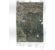 USGS Topo Map Washington State WA Monroe 20110504 TM Poster