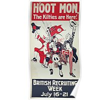 Hoot mon the kilties are here! British recruiting week July 16 21 Poster