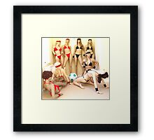 Beach Volleyball - Meet the Teams Framed Print