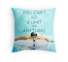 Swimming with no limits Throw Pillow