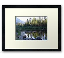 BEAVER POND ON THE BOULDER Framed Print
