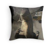 A Dinosaur Encounter Throw Pillow
