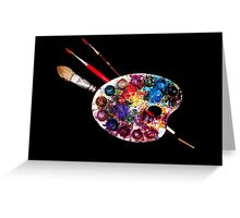 ARTIST COLOUR PALETTE AND BRUSHES Greeting Card