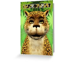 Leopard Children's Birthday greeting Card Greeting Card