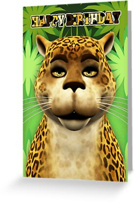 Leopard Children's Birthday greeting Card by Moonlake