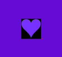 Purple Hart iPhone Case by Alyson Fennell