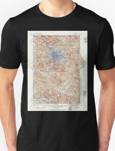USGS Topo Map Washington State WA Mt Rainier 242667 1924 125000 Unisex T-Shirt