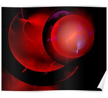 Abstract - Red (120805-20-2) Poster