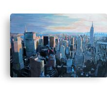 New York City - Manhattan in Warm Evening Sunlight Canvas Print
