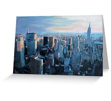 New York City - Manhattan in Warm Evening Sunlight Greeting Card