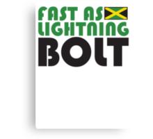 Fast As Lightning Bolt Canvas Print