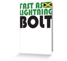 Fast As Lightning Bolt Greeting Card