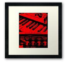 Synth Keyboard Sound Modify Framed Print