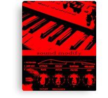 Synth Keyboard Sound Modify Canvas Print