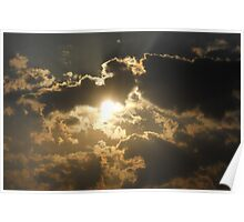 Clouds at the Beach 4 Poster
