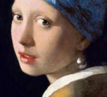 Girl with a Pearl Earring by Johannes Vermeer (1665) Sticker