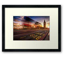 Big Ben Bus Stop Framed Print