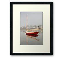 Red Catboat on Provincetown Harbor Framed Print