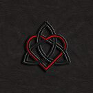 Celtic Knot Valentine Heart Black Leather by Brian Carson