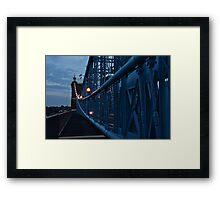 Dusk on the Roebling Bridge Framed Print