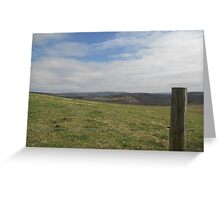 Fields in the Mountains Photo Greeting Card