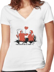 Till Death Do Us Part T-Shirt Women's Fitted V-Neck T-Shirt