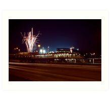 Chicago White Sox Homer fireworks Art Print