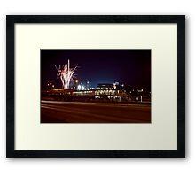 Chicago White Sox Homer fireworks Framed Print