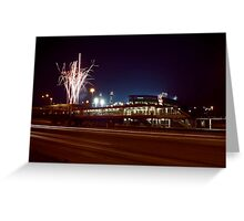 Chicago White Sox Homer fireworks Greeting Card