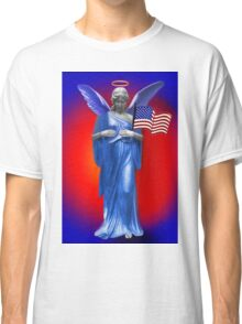 PATRIOTIC ANGELIC PROTECTION FOR THE U.S.A. THROW PILLOW Classic T-Shirt