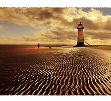 Talacre Lighthouse Point of Ayr by Mal Bray