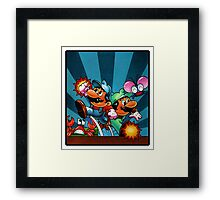 Mario Brothers - Retro Videogame  Box Art  Framed Print