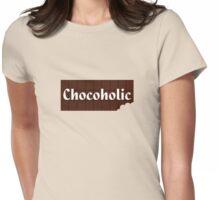 Chocoholic T-shirt ~ I Love Chocolate Sticker Womens Fitted T-Shirt