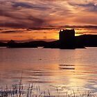 Sunset, Castle Stalker by Simon Bowen