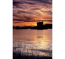 Sunset, Castle Stalker Photographic Print