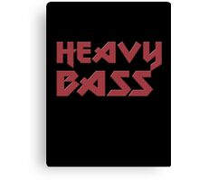 Heavy Bass T-Shirt - I Love Bass Music Top Canvas Print