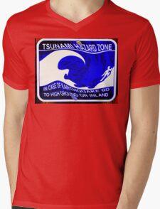 Tsunami Hazard Zone Mens V-Neck T-Shirt