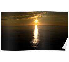 Sunset over the ocean. Poster