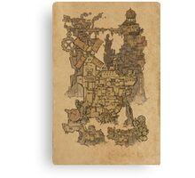 Map of Wyndia Canvas Print