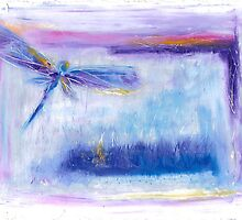 blue dragonfly by joanmarie444
