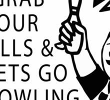 Very Funny Bowling T-Shirt Sticker