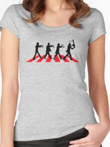 Zombies on Abbey Road (Version 02) Women's Fitted Scoop T-Shirt