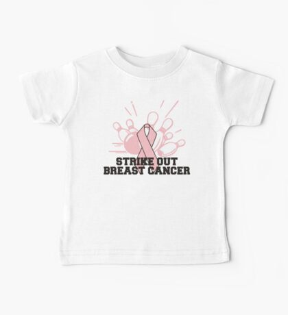 Strike Out Breast Cancer Bowling T-Shirt Baby Tee