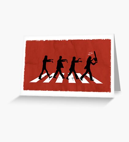 Zombies on Abbey Road (Version 02) Greeting Card