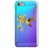 Gold Hummingbird iPhone Case/Skin