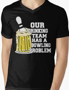 Funny Bowling Team T-Shirt Mens V-Neck T-Shirt