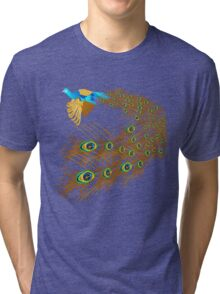Flying Peacock Tri-blend T-Shirt